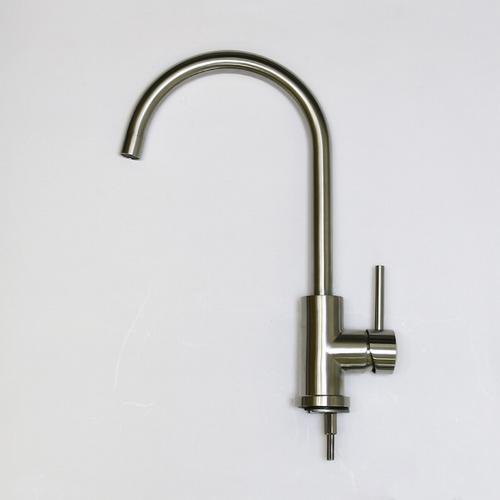 ステンレス製シングルレバーキッチン用スワン混合栓