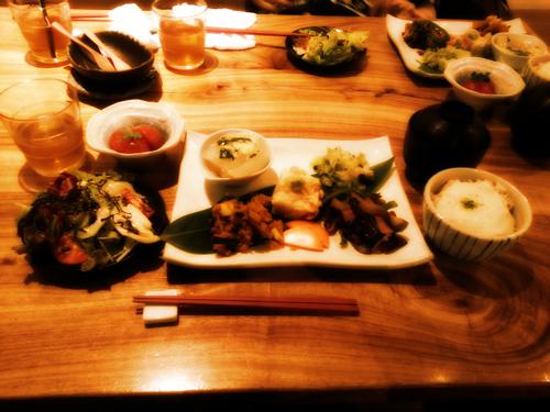 野菜たらふく玄米定食